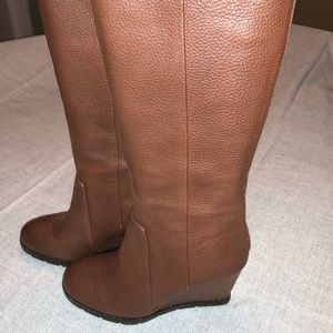 Kate Spade sonny wedge boot knee high size 10